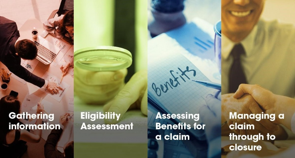 claims assessment processes typically involve 4 key elements